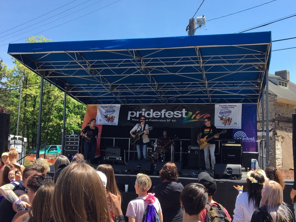 Pridefest music stage